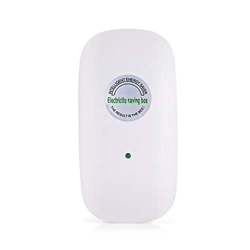 Zerone Ahorrador de energía, Ahorro de energía de la Caja de Ahorro de Electricidad 90V-250V para la pequeña fábrica del Ministerio del Interior(Blanco)