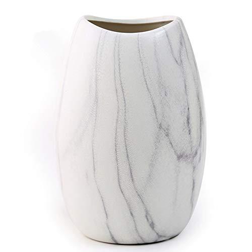 Anding 白い陶磁器の花瓶 折り紙アート マットライトのデザイン 独創的なインテリア 生花花瓶 (LY096 白)