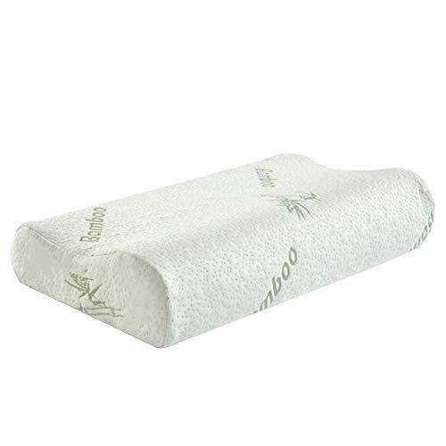 Almohada de rebote lento Almohada Cervical de salud Patrón de bambú creativo Espuma de memoria Relax Home