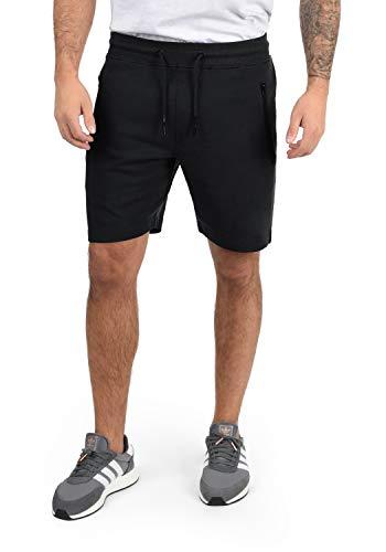 !Solid Taras Herren Sweatshorts Kurze Hose Jogginghose Mit Verschließbaren Eingriffstaschen Und Kordel Regular Fit, Größe:XL, Farbe:Black (9000)