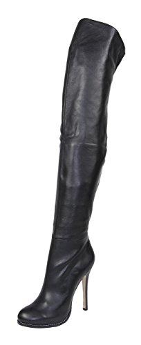 AROLLO Damen Overknee Queen Nappa-Leder Stiefel (42 EU, 42)