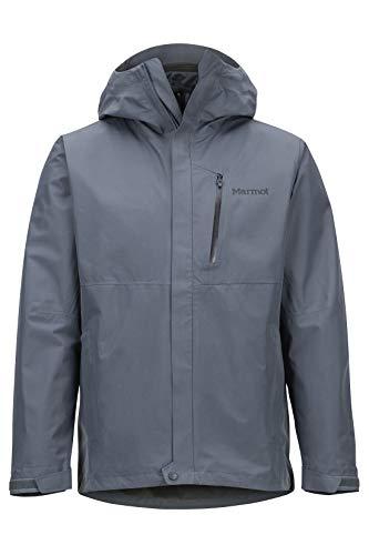 Marmot Herren Minimalist Component Jacket, Wasserdichte, warme GORE-TEX-Regenjacke, winddichter Regenmantel zum Fahrradfahren, atmungsaktiver Hardshell Windbreaker als Übergangsjacke, Steel Onyx, M