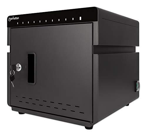 Manhattan 715942 - Estación de carga USB-C para 10 ordenadores portátiles/tabletas/smartphones, color negro