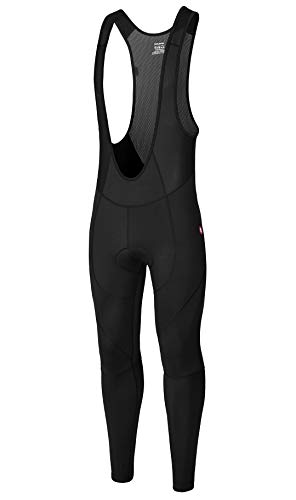 qualidyne Men's Cycling Bike Bib Pants 3D Padded Bike Tights Compression Bicycle Pants, Excellent Performance & Better Fit(Black,M)