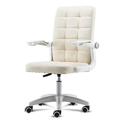 WJMLS Sillas for oficinas domésticas sillas ergonómicas de escritorio silla de la computadora Silla con respaldo ajustable Silla de tareas Mediados Apoyabrazos Ejecutivo del balanceo giratorio for Muj