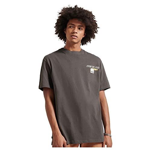 Superdry Camiseta unisex Yama-No-Kami, Negro Vintage, Medium