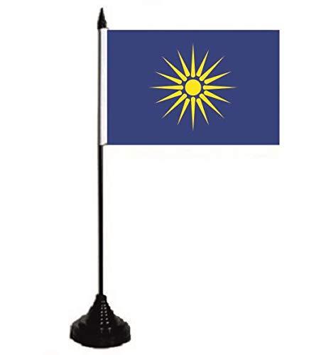 U24 Tischflagge Griechisch Mazedonien Fahne Flagge Tischfahne 10 x 15 cm