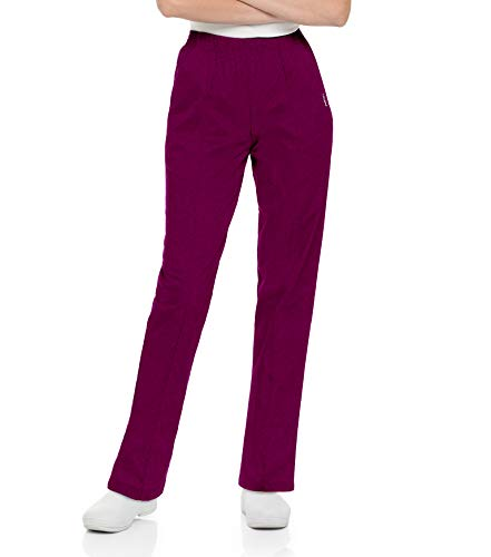Landau Damen Women's Medical Pant Uniform Medizinische Scrubs Hosen, Wein, X-Large