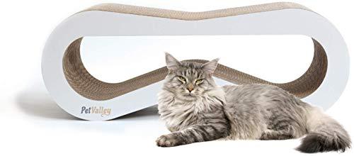 PetValley Tiragraffi Cuccia per Gatti di Design in Cartone Ondulato Made in Italy Ideale Come Palestra e Graffiatoio 100% Riciclabile