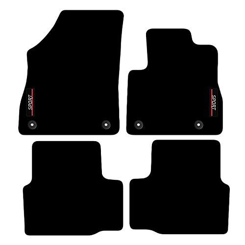 Carsio Tailored Carpet Car Floor Mats with logo FOR Vauxhall Astra K 2015+ Onwards