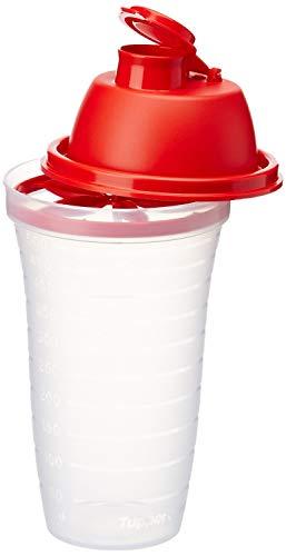 Neu OVP Tupperware D10 500 ml Mix Fix weiß mit rot Deckel Schüttelbecher Mixbecher Milchshake