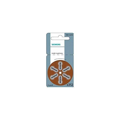 Siemens 312 Hörgerätebatterien Batterien für Hörgeräte 60 Stück