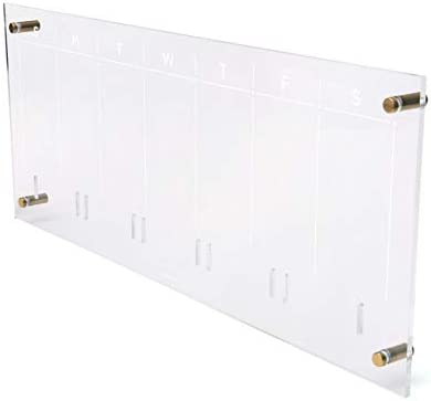 In stock russell+hazel Acrylic Popular popular Weekly Wall Clear and Calendar Gold-Tone