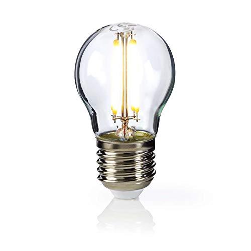 Nedis Bombilla de Filamento LED E27 de Estilo Retro G45