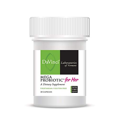 Davinci Laboratories Mega Probiotic for Women, 30 Capsules - Digestive and Urinary Tract Health, Non GMO Ingredients, Vegetarian