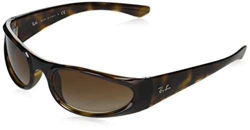 Ray-Ban RB4332 Rectangular Sunglasses, Light Havana/Brown Gradient, 57 mm