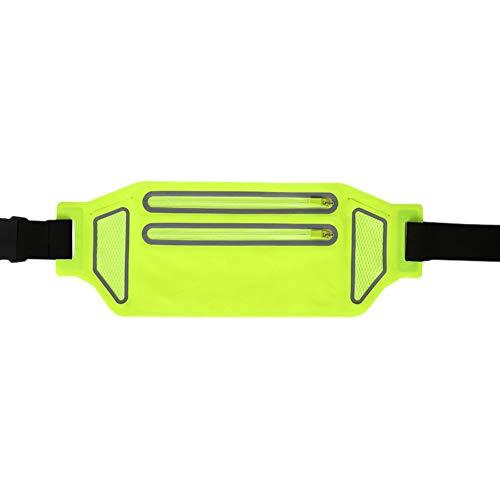 Riñonera Deportiva Cinturón Deportiva Belt Impermeable Cintura con Bandas Reflectantes para Correr,Ciclismo Viajar Senderismo Y Bum Bag Bolsa para Porta Movil Verde