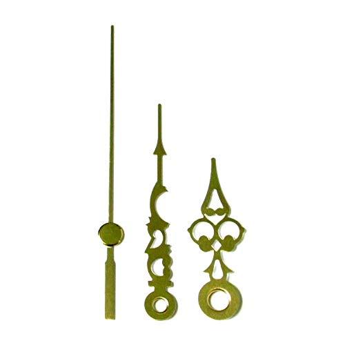 De remplacement en métal doré horloge mains pour horloge à quartz mouvements – Press Fit Tailles 24 mm – 130 mm, Métal, doré, 60mm Gold