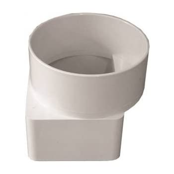 Genova 45344 Pvc Sewer Drain Downspout Adapter 3x4 Inches Amazon Com