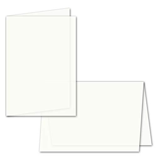 50x faltbares Einlege-Papier für A6 Faltkarten - transparent-weiß - 143 x 200 mm (100 x 143 mm gefaltet) - hochwertig mattes Papier von GUSTAV NEUSER®