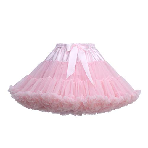 VEMOW Heißer Elegante Mädchen Karneval Mode Einfarbig Tanzparty Tanz Ballett Nette Tutu Tüll Röcke (P, Freie Größe)