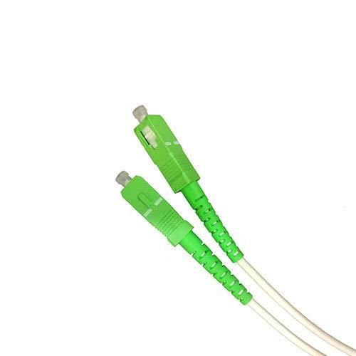 Cable Fibra optica SC-APC monomodo simplex 9-125 Blanco (50 cm)