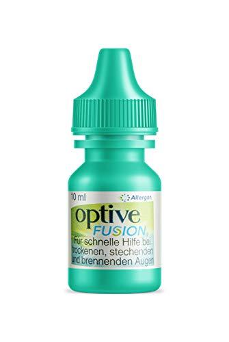 Allergan Optive® FUSION Augentropfen gegen trockene Augen mit Hyaluron | 10 ml Augentropfen Hyaluron | Augentropfen Kontaktlinsen geeignet