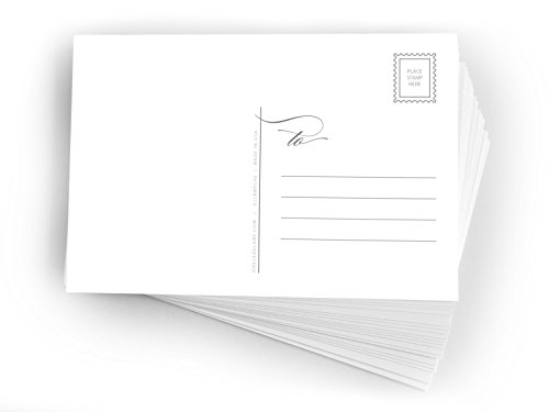 Blank Mailable Postcards Printable, 4x6, Heavy Duty 14pt, Blank Postcards for Art or Printing with Mailing Side for Mailing, Christmas Holiday Postcards. (48ct)