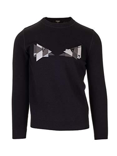 Luxury Fashion | Fendi Heren FAE537AAY3F0GME Zwart Polyester Truien | Lente-zomer 20