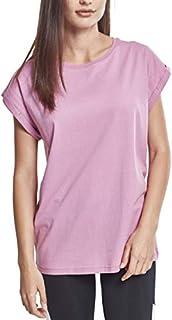 scheda urban classics ladies extended shoulder tee maglietta a maniche corte, t-shirt oversize con spalle scoperte, 100% cotone jersey, abbigliamento casual, coolpink, l donna