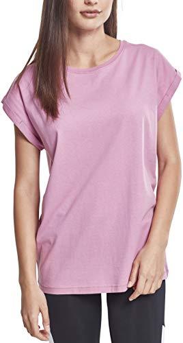 Urban Classics Ladies Extended Shoulder tee Camiseta, Rosa (Cool Pink 01467), M para Mujer