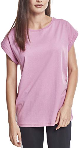Urban Classics ErwachsenDamen Ladies Extended Shoulder Tee T-Shirt, coolpink, M