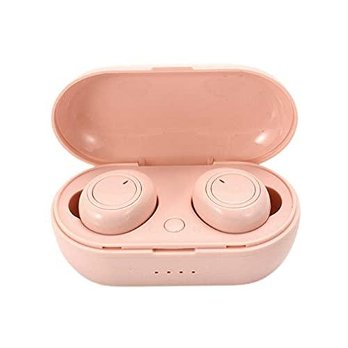 SeniorMar-UK Y50 In-Ear Noise Reduction 5.0 Kabelloses Headset Gaming Kabelloses Wasserdichtes Eingebautes Mikrofon Kopfhörer In-Ear-Ohrhörer pink