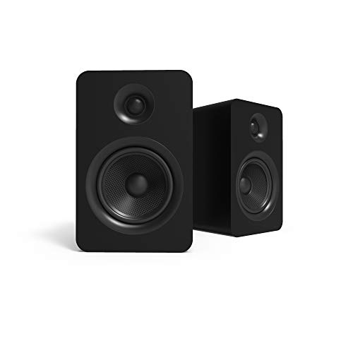 Kanto YU Passive 5.25' Passive Bookshelf Speakers with 1' Silk Dome Tweeter | External Amplifier Required | Matte Black | Pair