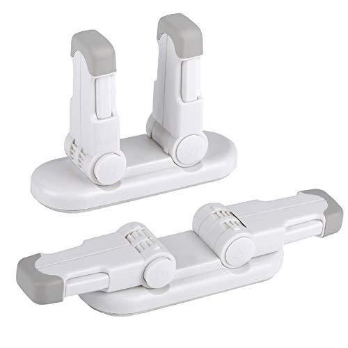 REDTRON Bloqueo de Seguridad para Bebés(Mejorado), Pack 2 Bloqueo de la Palanca de la Puerta para Niños con 3M Adhesivo, Bloqueo de Seguridad para Puertas usar para Golpecito, Puertas y Ventanas