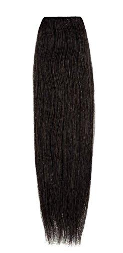 American Dream Remy 100% cheveux humains 35,6 cm soyeuse droite Trame Couleur 1B – Noir naturel