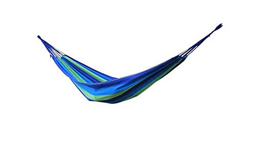 Double thick canvas hammock outdoor indoor balcony swing bedroom dormitory hammock tree bed, portable travel camping hammock