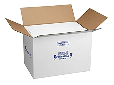 """Polar Tech 266C Thermo Chill Insulated Carton with Foam Shipper, Large, 19"""" Length x 12"""" Width x 16"""" Depth"""