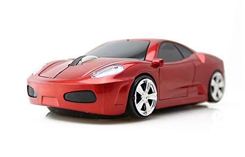 Klein Design CM0015 Kabellose Maus, Sportwagen Design, 2.4 GHz Verbindung via Nano-USB-Empfänger, Optischer Sensor, Für Links- und Rechtshänder, in Farbe rote.