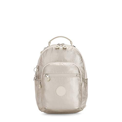 Kipling Women's Seoul Small Backpack, cloud Metal, One Size
