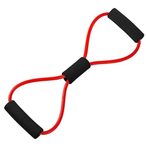Ligero Yoga de Goma de Fitness Extensor de Pecho Cuerda Ejercicio Equipo de Entrenamiento Durable y Muy elástico (Color : Red)