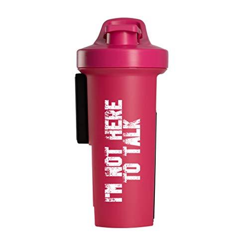 GA Shaker+® 2.0 Das Original Trinkflasche/Wasserflasche mit Protein Shaker Funktion, 1L (I´m not here to talk Pink)