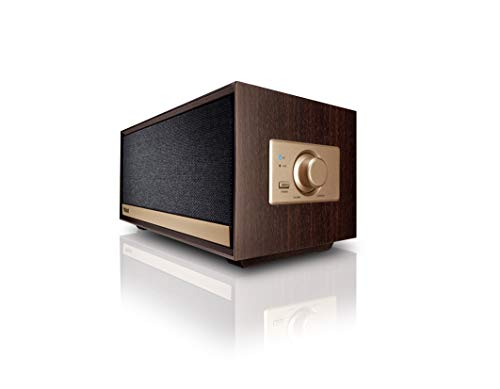 Magnat Prime Classic | Actieve luidspreker in retro look | Bluetooth aptX, AUX-in, geïntegreerde klasse D versterker | Dark Mocca