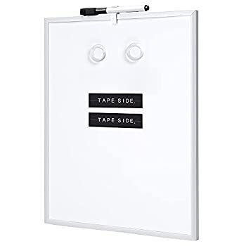 Amazon Basics Small Dry Erase Whiteboard Magnetic White Board for to Do List Refrigerator Locker  Aluminum Frame 11 x 14 Inches 6-Pack