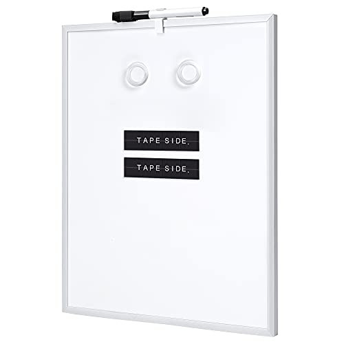 Amazon Basics Small Dry Erase Whiteboard, Magnetic White Board for to Do List, Refrigerator, Locker , Aluminum Frame, 11 x 14 Inches, 6-Pack