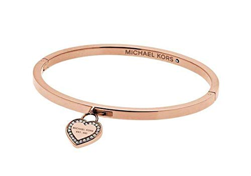 Michael Kors Logo Rose Gold-Tone Bangle Bracelet