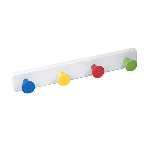 POMOLINE Percha Pared Pomos Resina ABS Colores - Base Resina ABS Blanco Directo 410x60MM