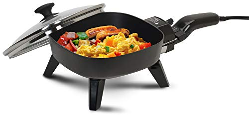 Maxi-Matic Elite Cuisine Electric Skillet with Glass, 7 inches, Black