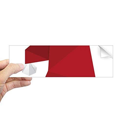DIYthinker Abstract Kerst Hoed Origami Patroon Rechthoek Bumper Sticker Notebook Window Decal