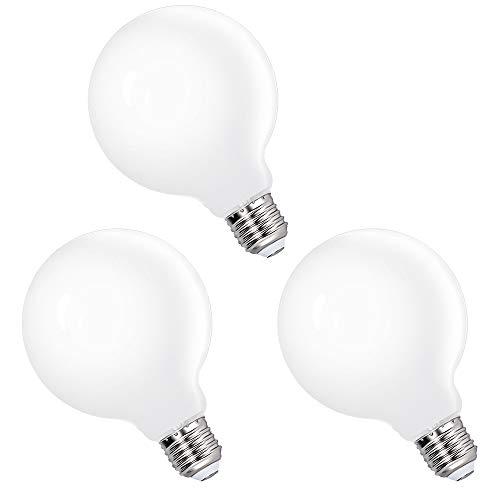 Grosse Lampes Ampoules LED Boule a Edison E27 Globe G95 6W Blanc Froid 5000K pour Lampe Suspension Suspendue, Remplace Ampoule Incandescente 60W, Lot de 3 de Enuotek